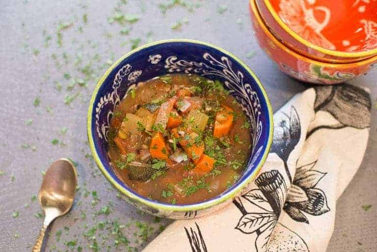 Vegetable Soup With Lentils and Wild Rice