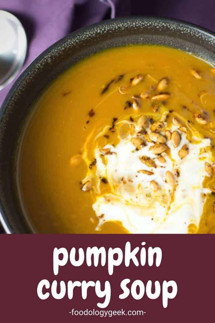 Healthy and delicious Spiced Pumpkin Soup. This vegan pumpkin soup made with canned pumpkin is a filling, low-calorie soup with a ton of flavor.
