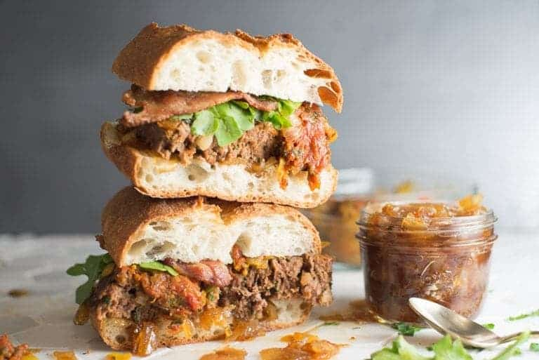 Best Meat Loaf Sandwich with Onion Jam