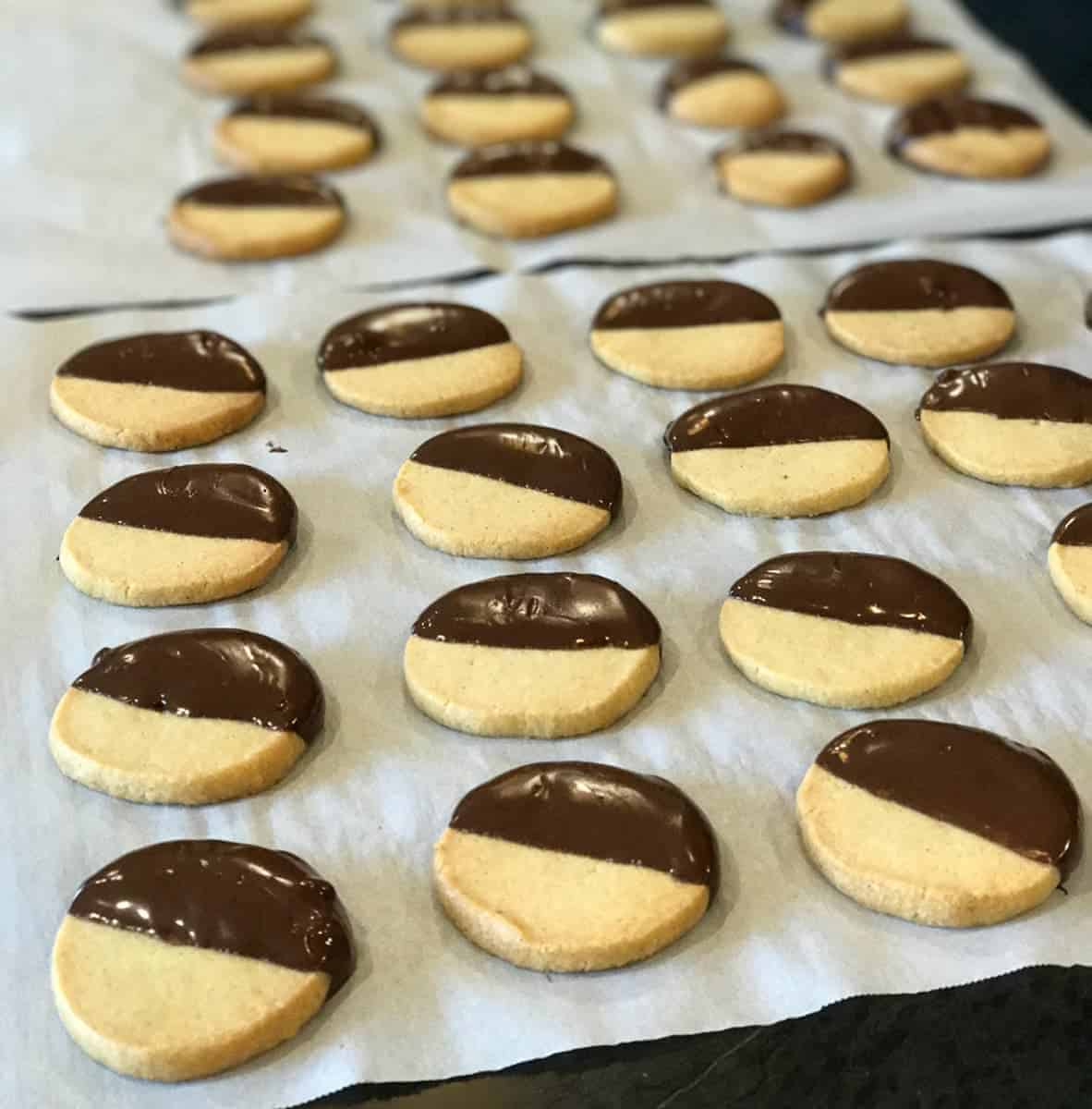 Chocoloate Dipped Shortbread Cookies