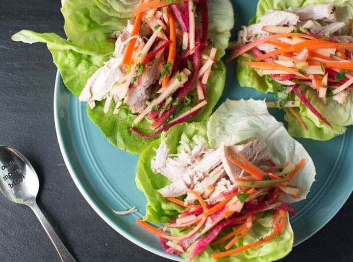 Lemon Grass Chicken Lettuce Wraps