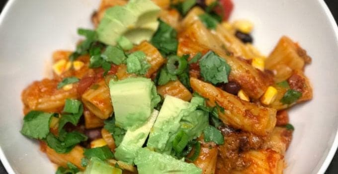 Easy Enchilada Pasta Bake