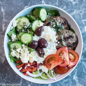 Greek Burger Bowls