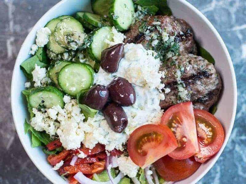 Greek Burger Bowls