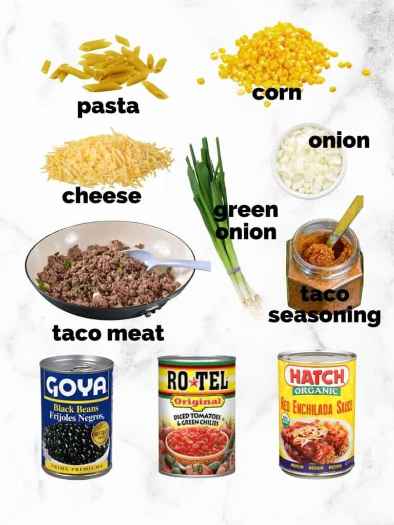 ingredients to make enchilada casserole