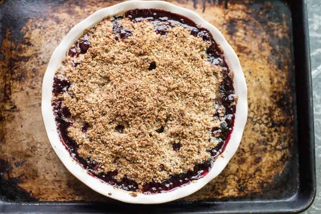 Cherry Crumble Right Out Of The Oven