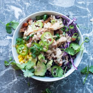 Chipotle Chicken Beast Bowls with Jalapeños