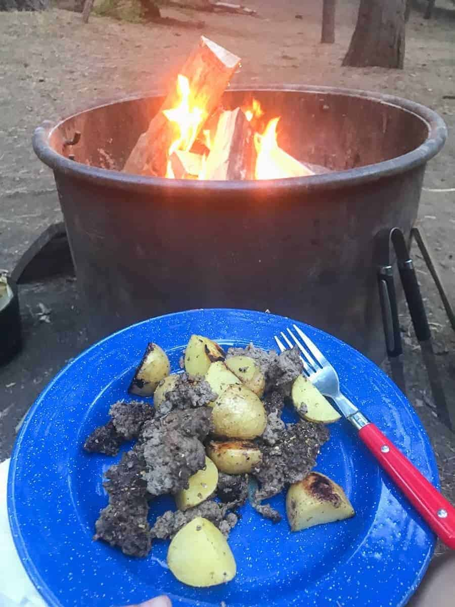 Campfire Beef and Potato Hash