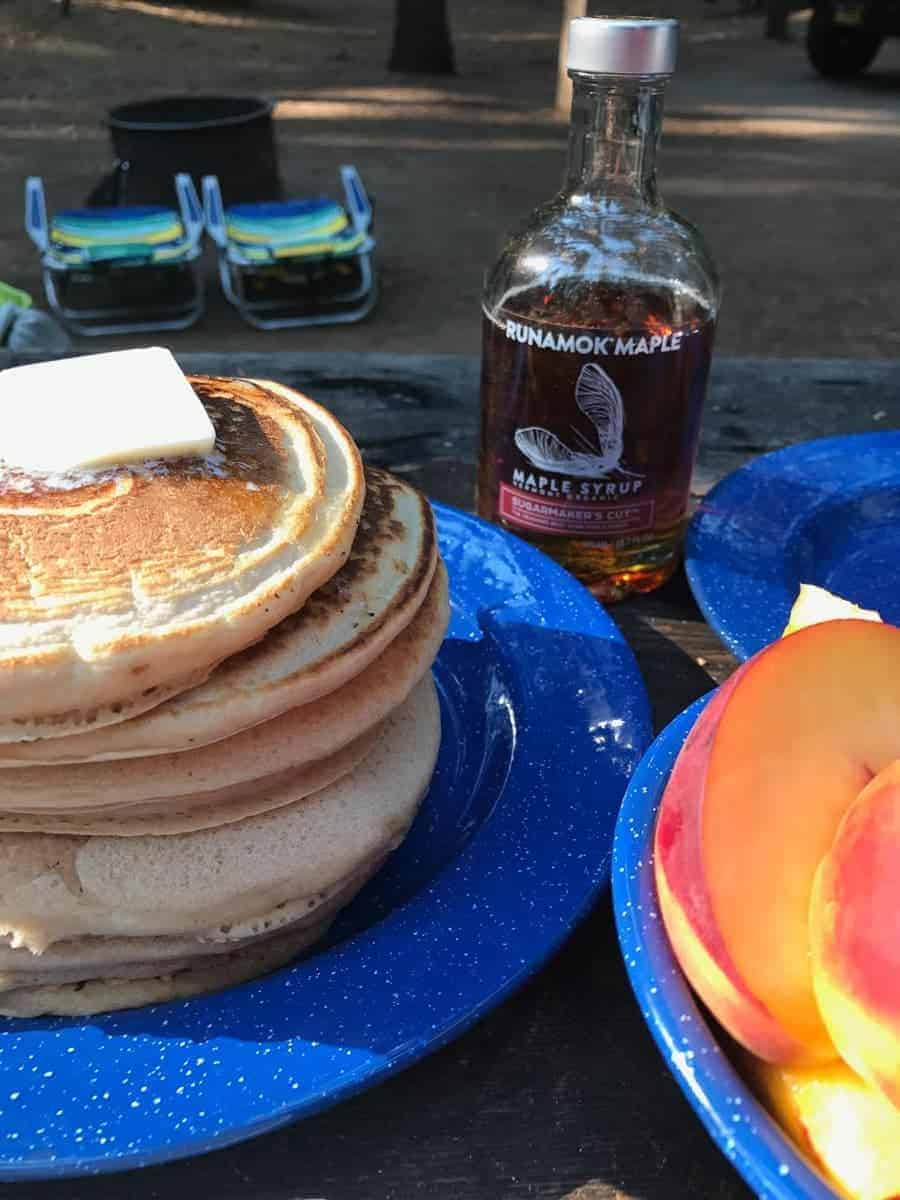 Super easy recipe for Camping Pancakes