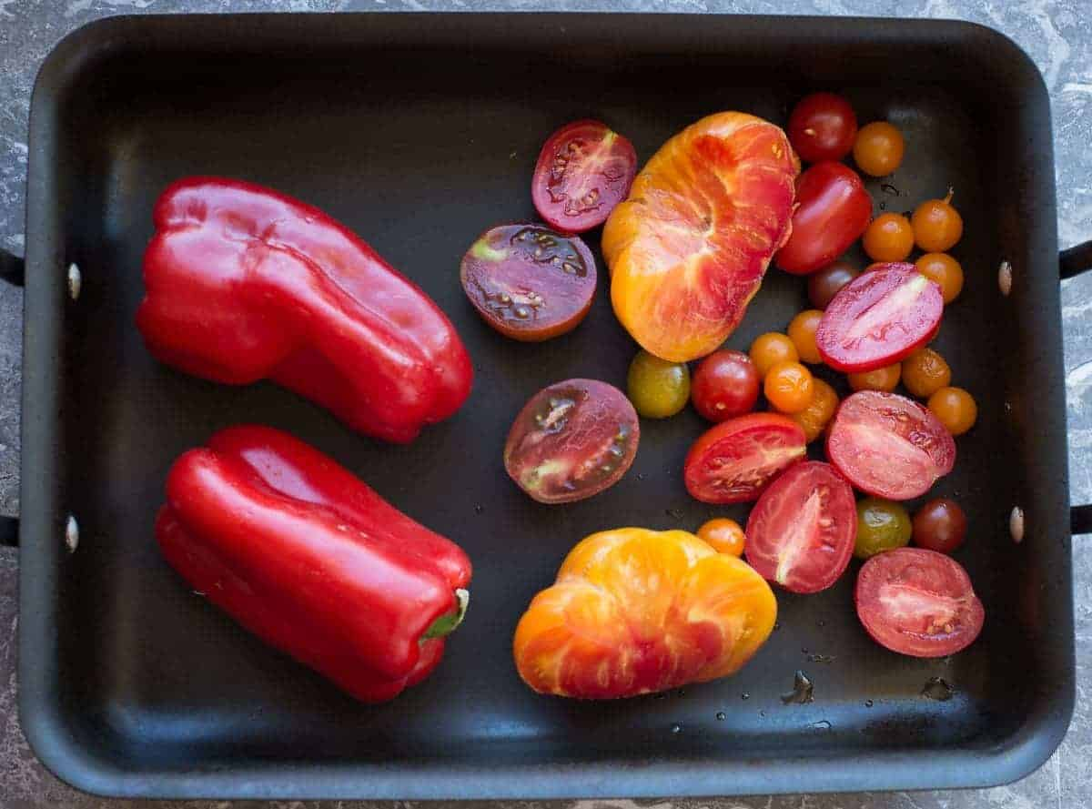 Preroasted Tomatoes and Peppers
