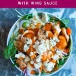 Healthy buffalo chicken beast bowl recipe. pinterest image by foodology geek