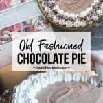 classic chocolate silk pie recipe. pinterest image by foodology geek.