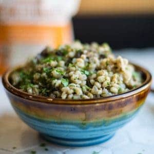 Barley with Mushrooms and Onions with