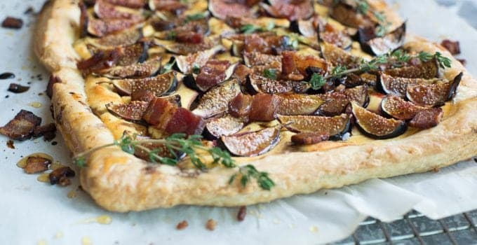 Goat Cheese Tart With Figs and Bacon