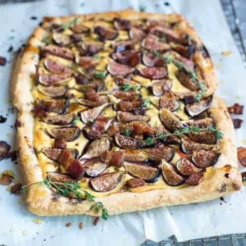 Fig Tart with Goat Cheese, Bacon and