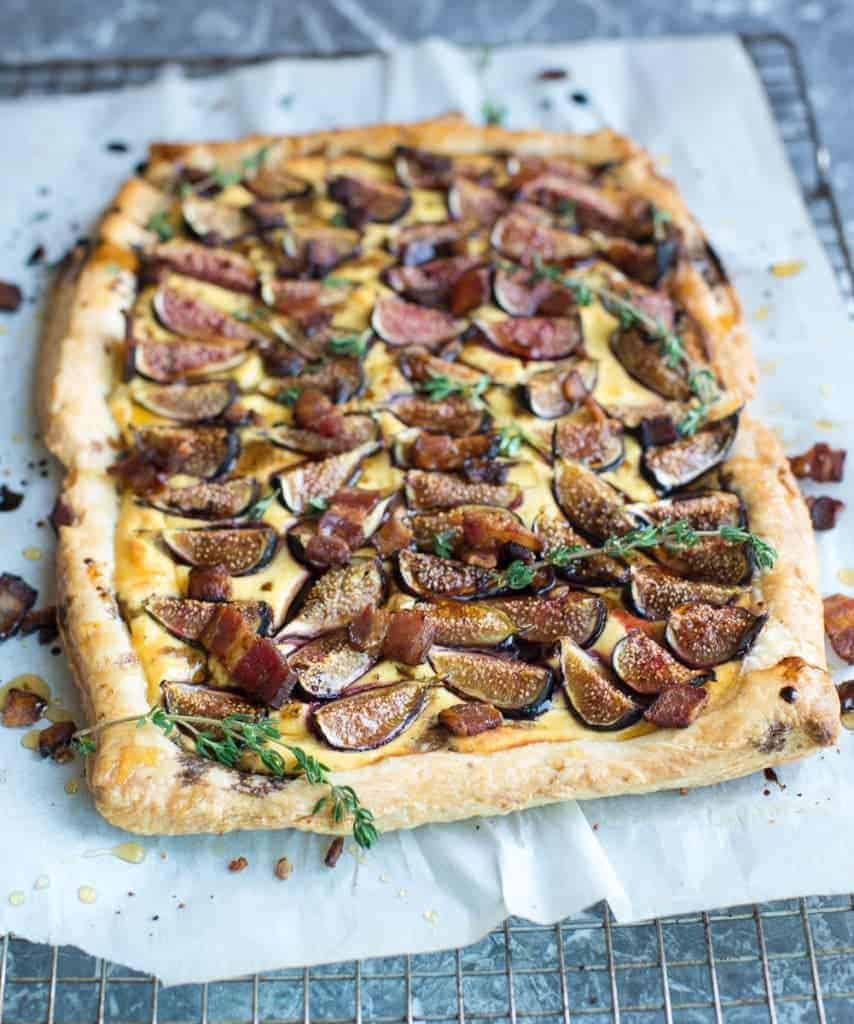 Fig Tart with Goat Cheese and Bacon