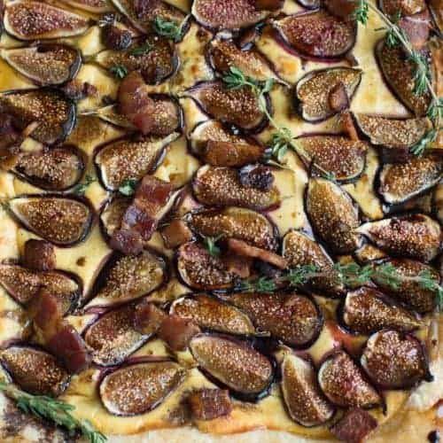 Fig Tart With Goat Cheese, Figs and Bacon by foodology geek