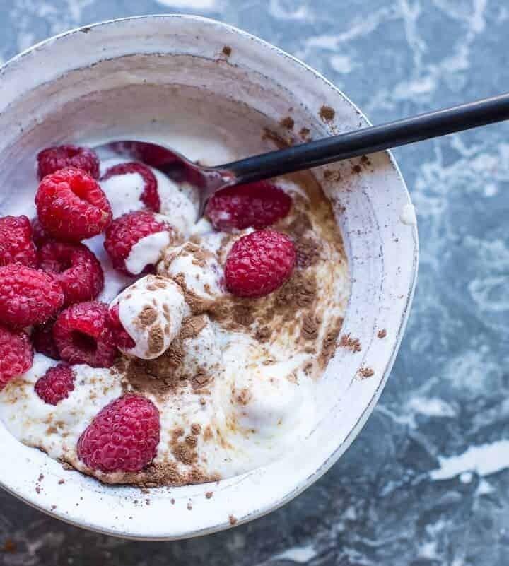 Raspberries and Coconut Cream