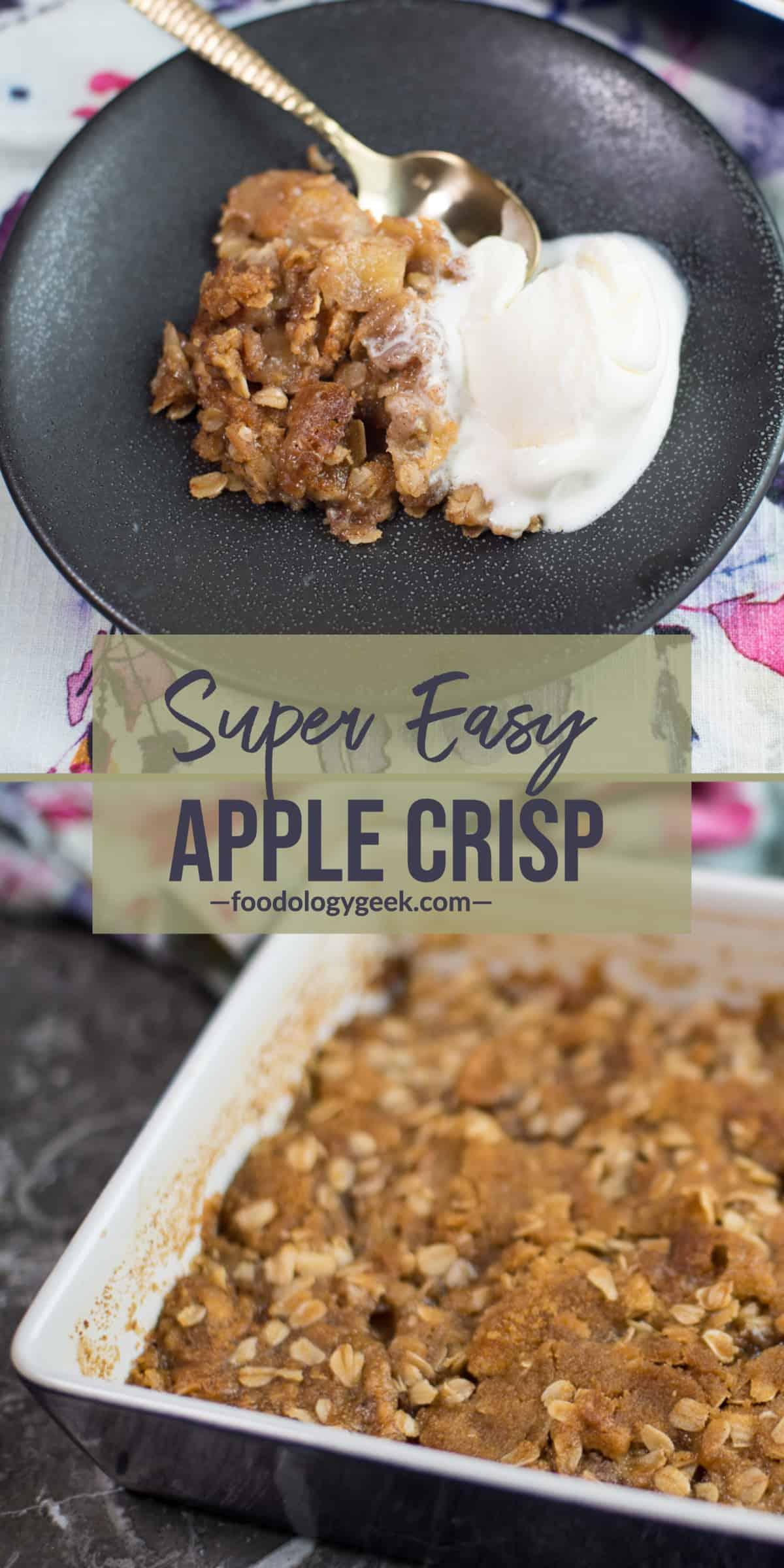 apple crisp recipe ointerest image by foodology geek