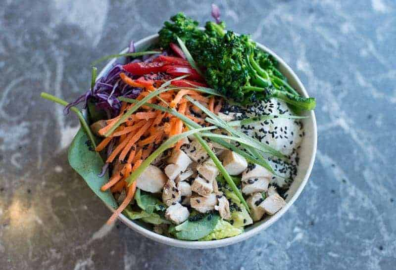 Healthy chicken teriyaki rice bowl recipe by foodology geek