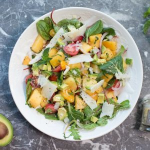 Summer Watermelon and Tomato Salad