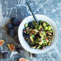 Roasted brussel sprouts with pancetta by foodology geek