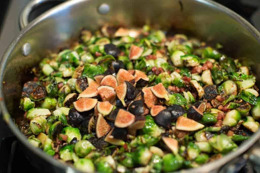 brussel sprouts with pancetta and fresh figs