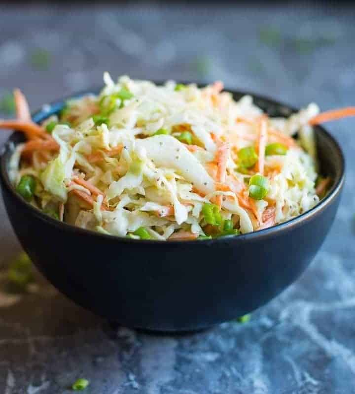 Creamy Southern Style Coleslaw recipe by foodology geek.