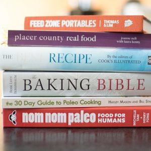 Stack of Cookbooks