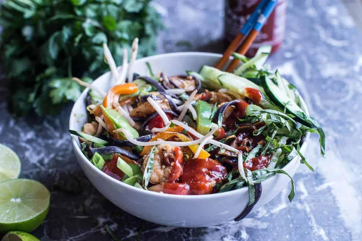 Asian Noodle Bowl Recipe with Shrimp