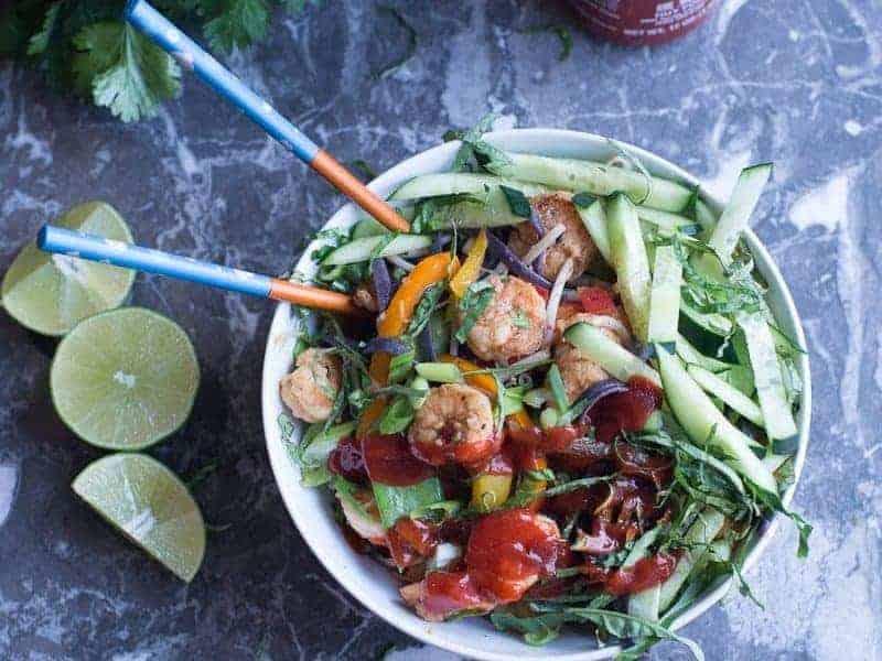Spicy Shrimp Noodle Bowl