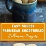 Easy Cheesy Parmesan Fingers Pinterest Image recipe by foodology geek