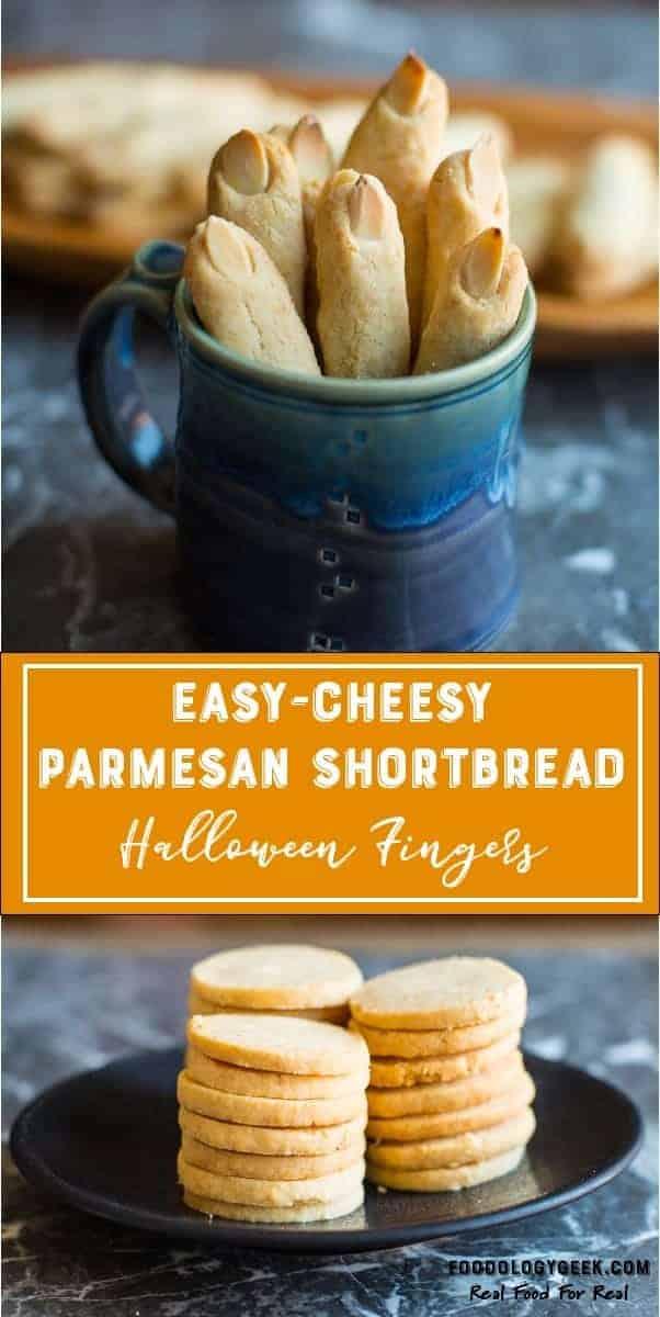 Easy Cheesy Parmesan Fingers Pinterest Image recipe by foodology geek