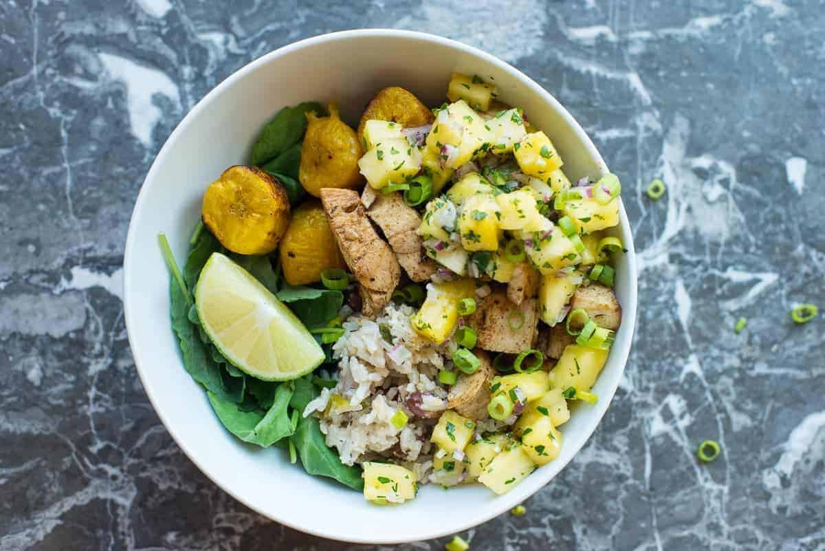 Jerk Chicken Beast Bowl With All The Fixins