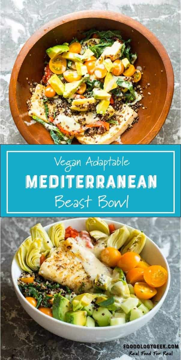 Mediterannean Beast Bowl for Pinterest