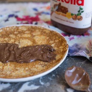 Crepe recipe with Nutella. recipe by foodology geek