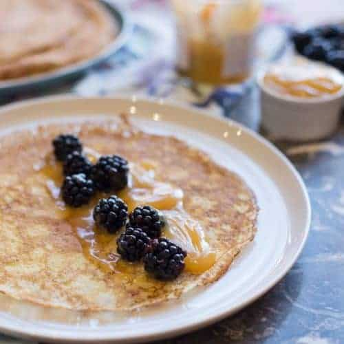 Swedish Pancakes With Lemon Curd Featured Image
