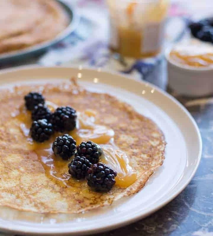 Swedish Pancakes With Lemon Curd recipe by foodology geek