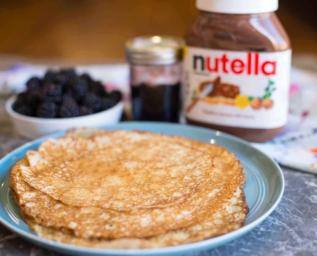 Swedish pancakes with Nutella