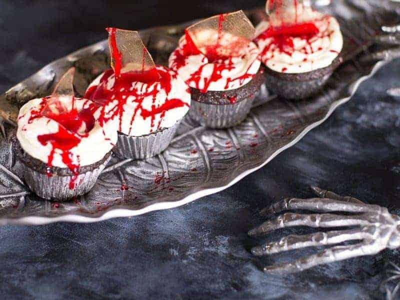 Bloody Halloween Cupcakes Recipe