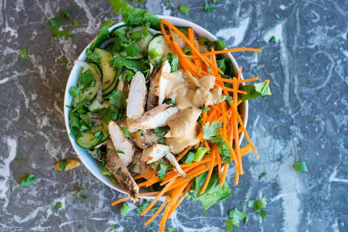 Chicken Satay Beast Bowl Overhead