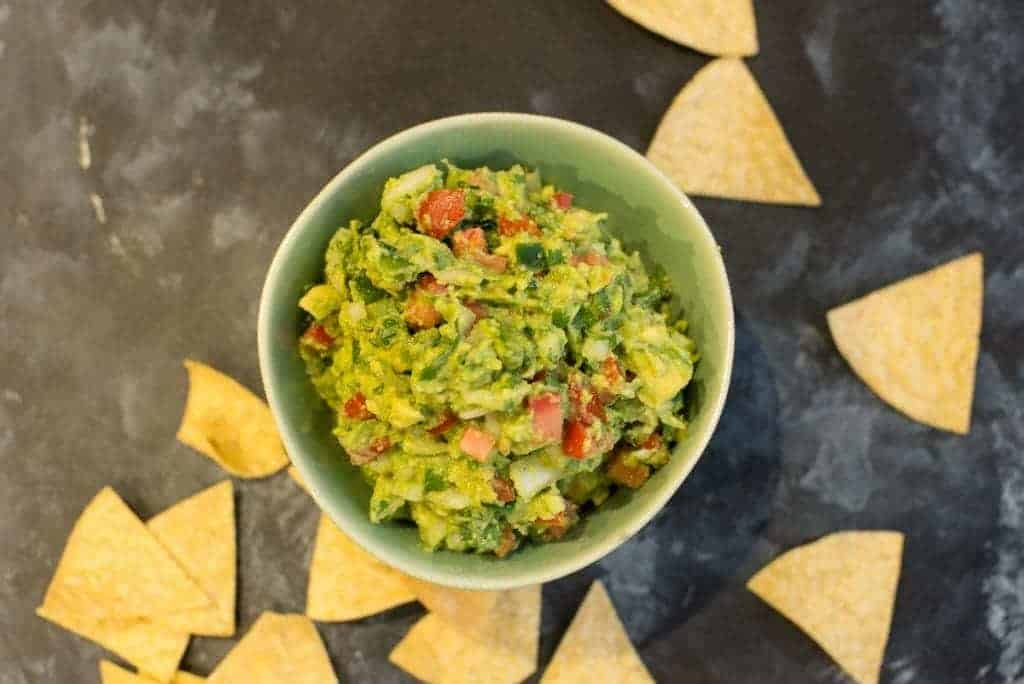 Fresh Homemade Guacamole with Chips