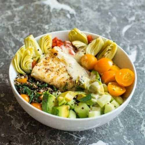Mediterranean Fish Meal Prep Bowl