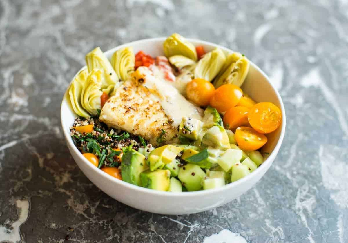 Mediterranean Beast Bowl with Fish