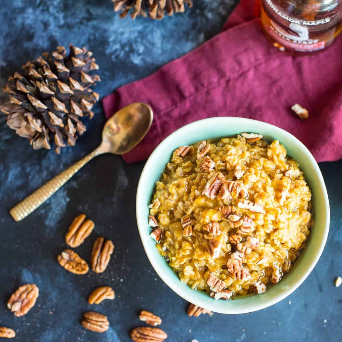 Spiced Pumpkin Oatmeal closer