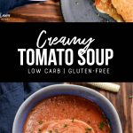 creamy tomato soup recipe pinterest image by foodology geek