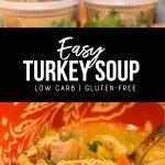 easy turkey soup recipe pinterest image by foodology geek