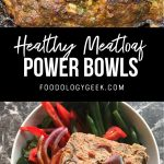 healthy paleo meatloaf meal prep bowl.