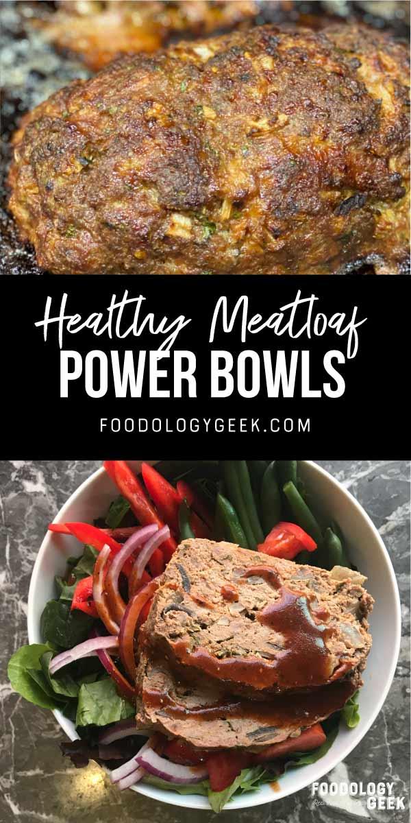 healthy paleo meatloaf meal prep bowl.