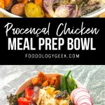 french chicken meal prep bowl